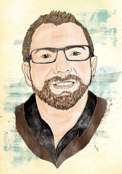 Neil Bennett live portrait