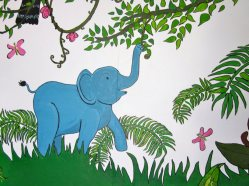songsaa island mural elephant