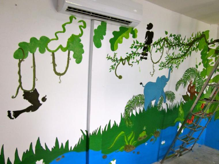 songsaa island playground mural painting progress