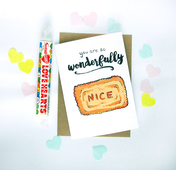 Illustrated Biscuit Greetings Cards